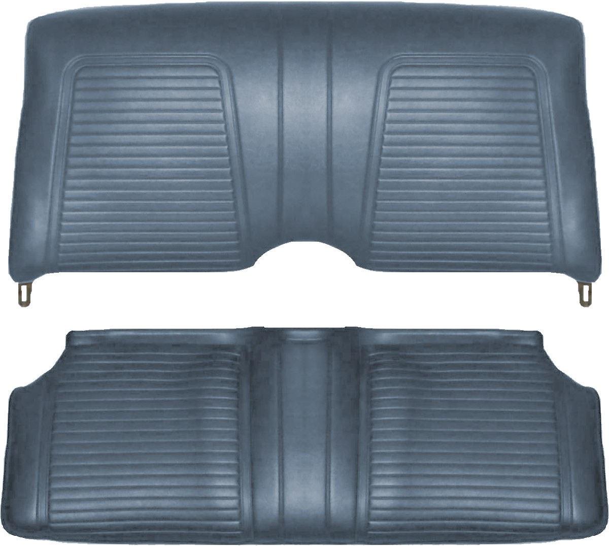 1969 Camaro Standard Interior Bucket Seat Covers  Dark Blue