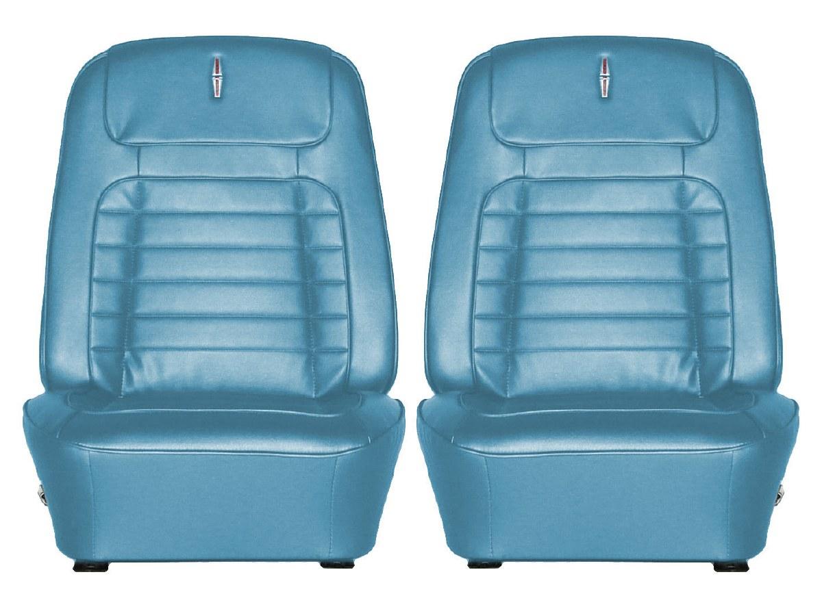 Marvelous 1968 Camaro Deluxe Interior Bucket Seat Covers Medium Blue Onthecornerstone Fun Painted Chair Ideas Images Onthecornerstoneorg