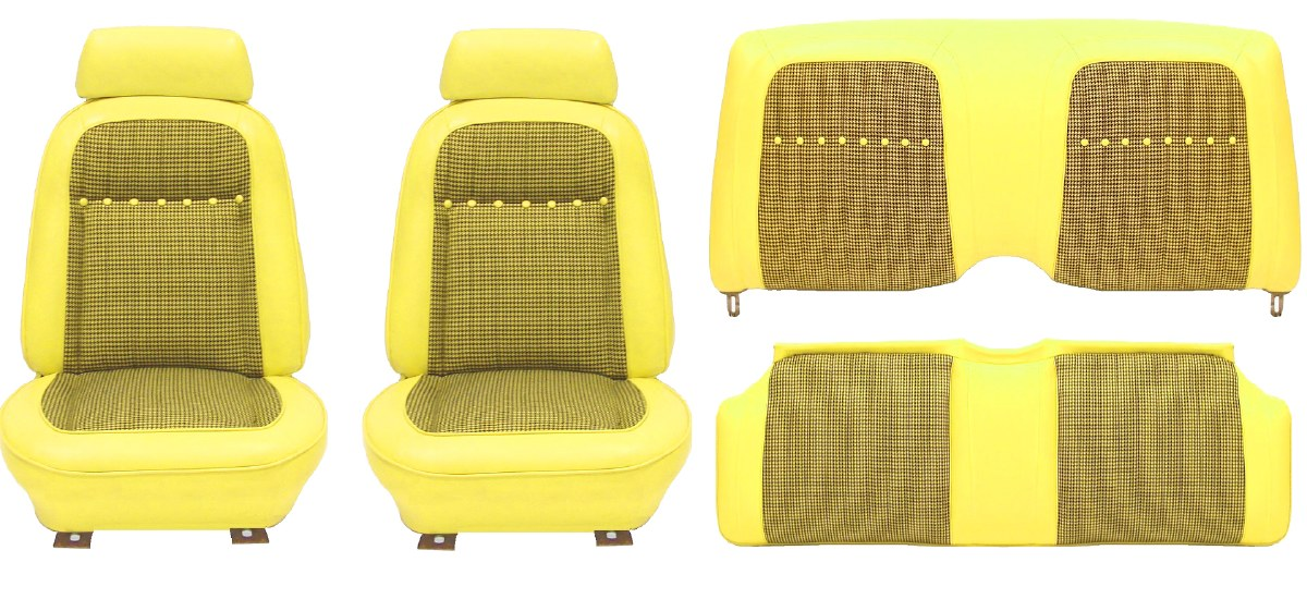 Astounding 1969 Camaro Deluxe Houndstooth Interior Seat Cover Kit Oe Machost Co Dining Chair Design Ideas Machostcouk