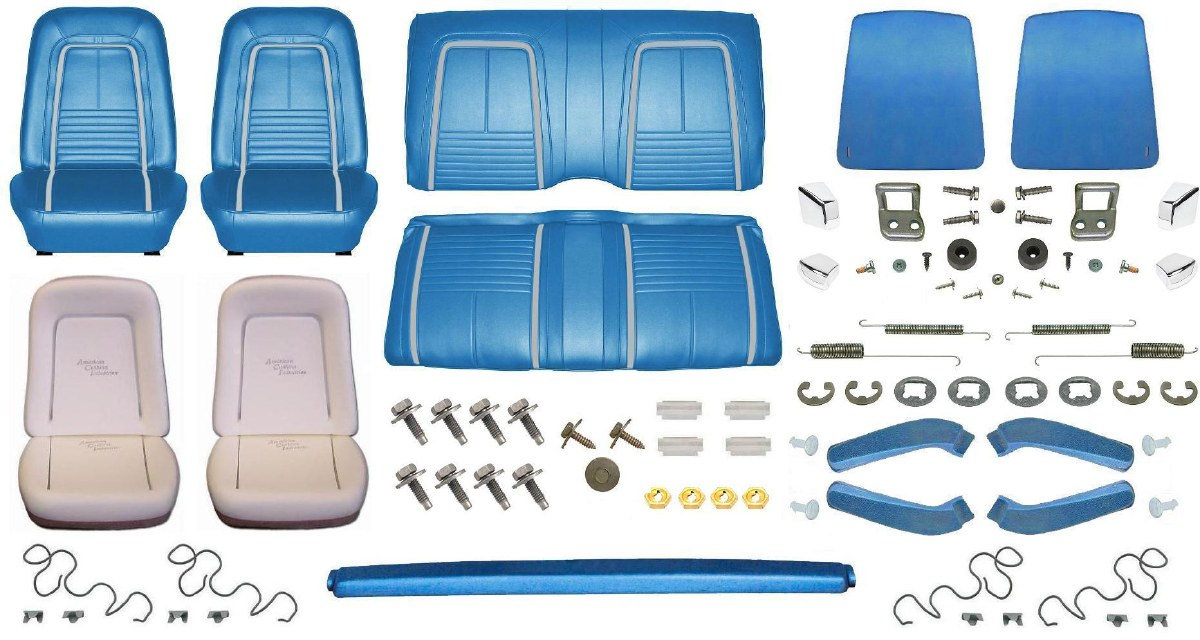 1967 Camaro Convertible Monster Deluxe Interior Kit Bright Blue 1967 1968 1969 Camaro Parts Nos Rare Reproduction Camaro Parts For Your Restoration
