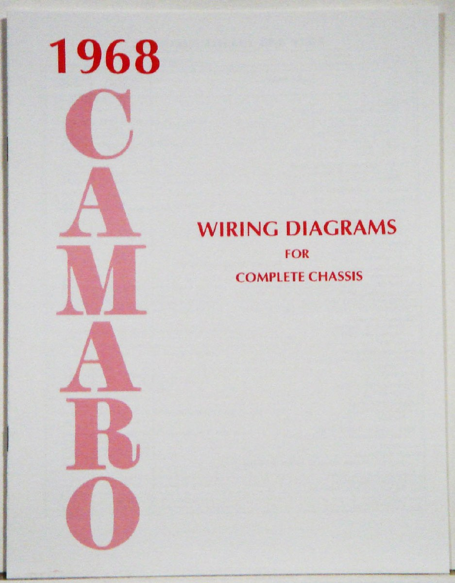 69 camaro wiring schematic for regulator 1968 camaro factory wiring diagram manual oe quality  usa  1967  1968 camaro factory wiring diagram