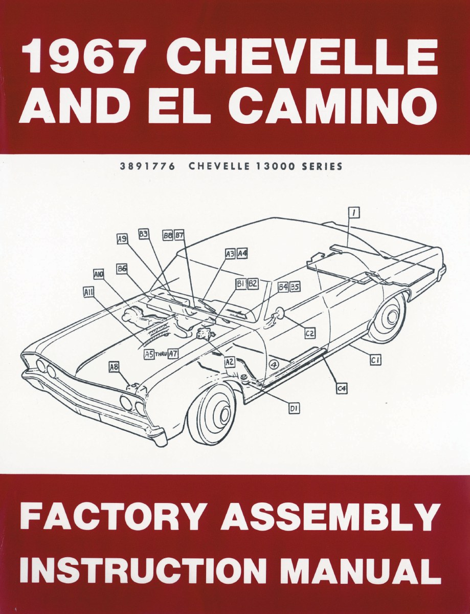 downloadable 64 chevelle wiring schematic 1967 chevelle factory assembly manual oe quality  printed in the  1967 chevelle factory assembly manual