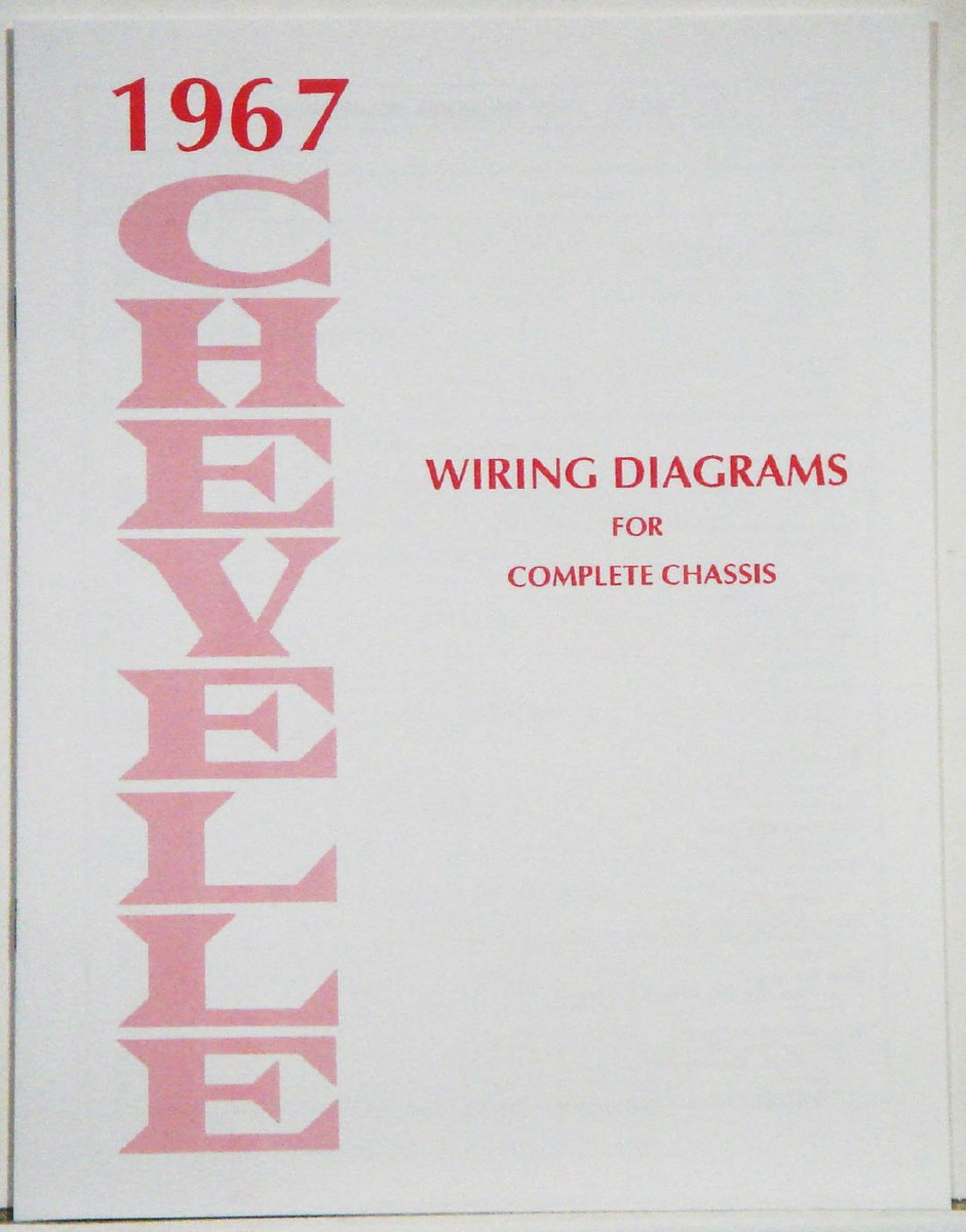 1967 Chevelle Factory Wiring Diagram Manual - 1967  1968  1969 Camaro Parts