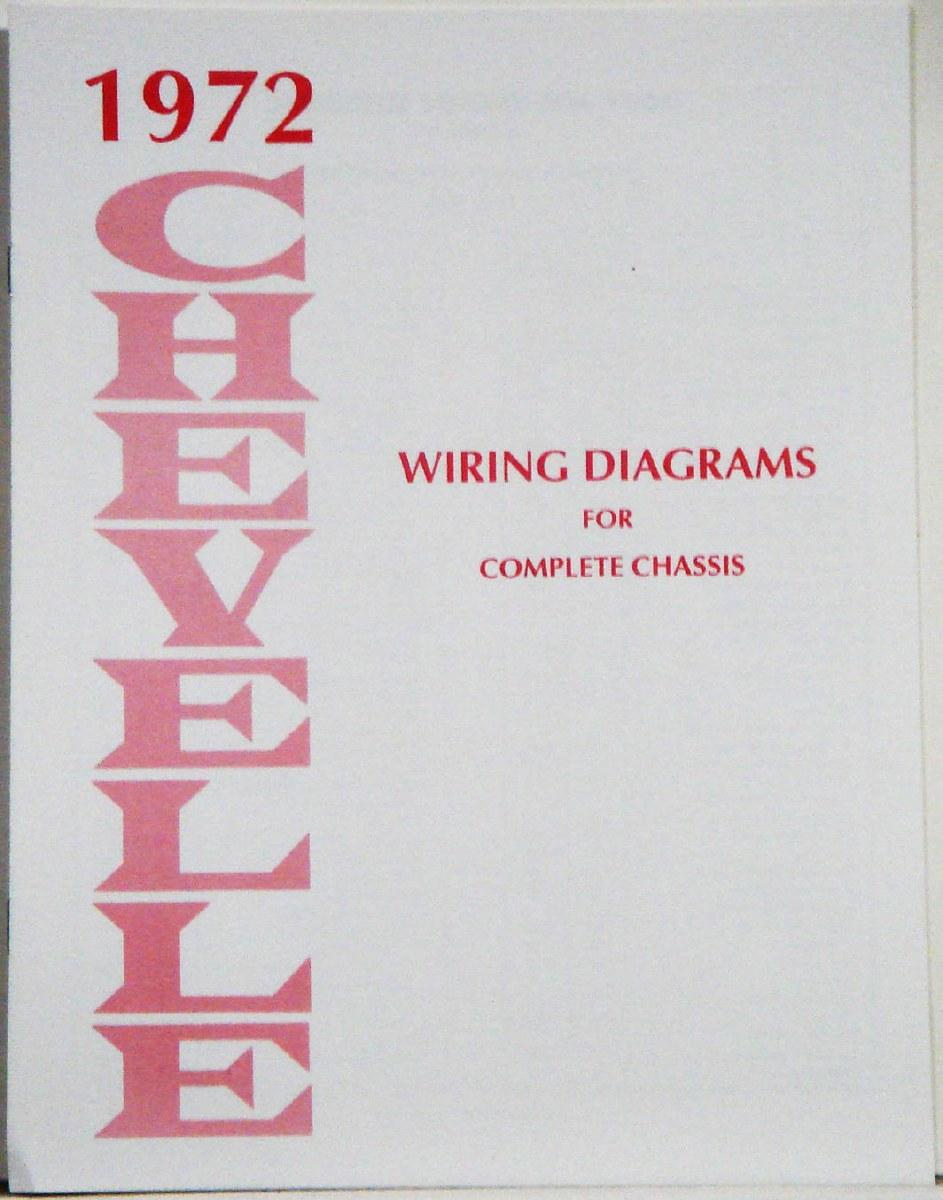 1972 Chevelle Factory Wiring Diagram Manual - 1967, 1968, 1969 Camaro Parts  - NOS, Rare, Reproduction Camaro Parts for your RestorationHeartbeat City Camaro