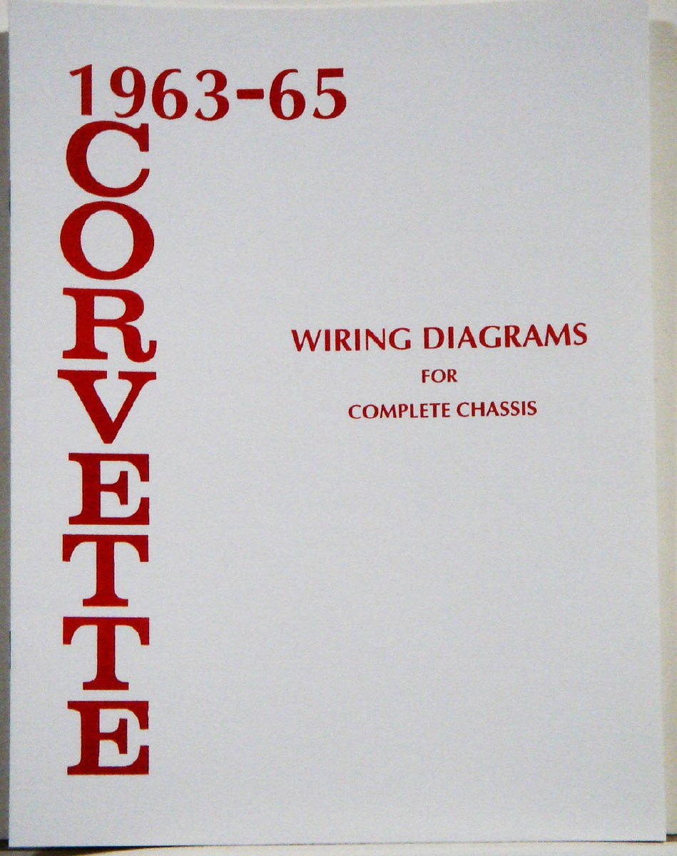 63-64-65 Corvette Factory Wiring Diagram Manual
