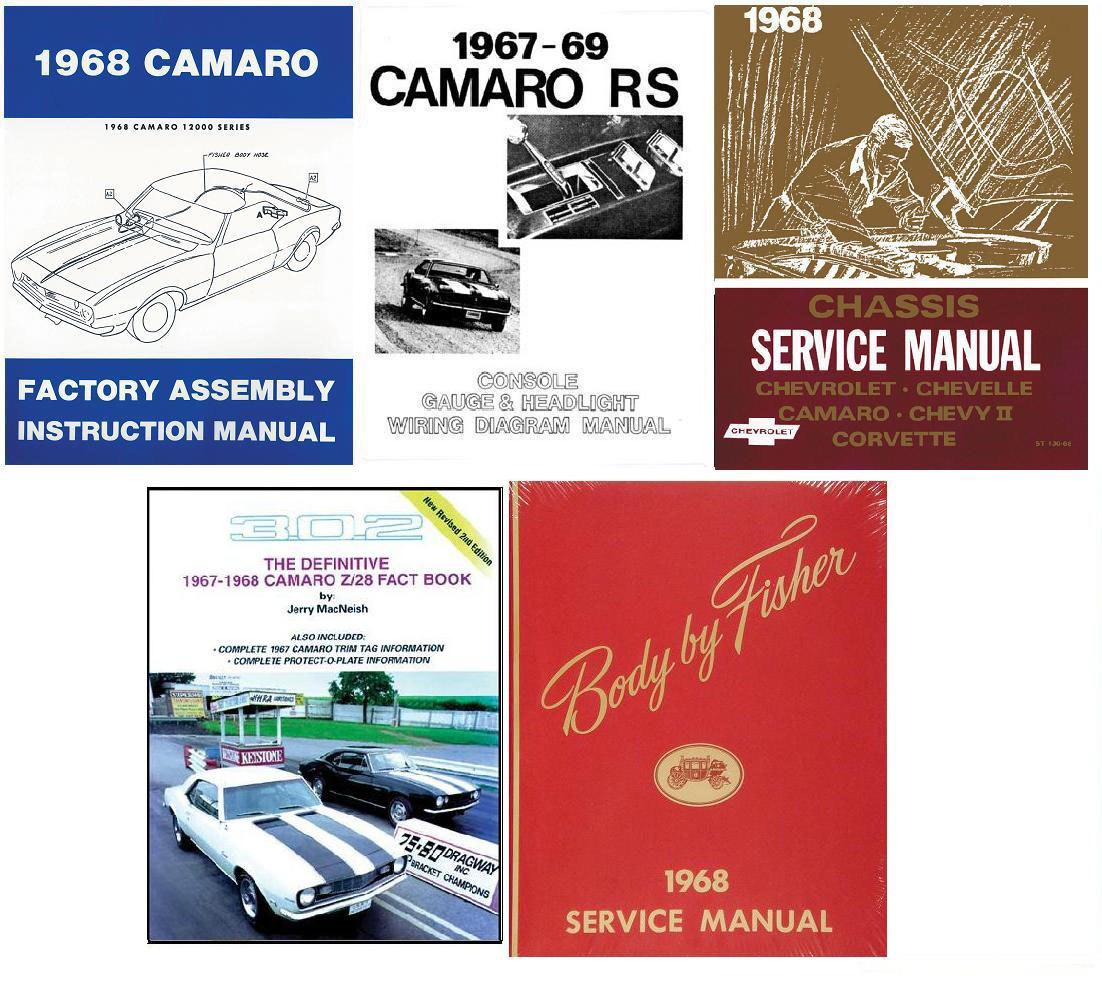 1968 Camaro Restoration Book Set Service Body Chassis Wiring Diagrams 1967 1968 1969 Camaro Parts Nos Rare Reproduction Camaro Parts For Your Restoration