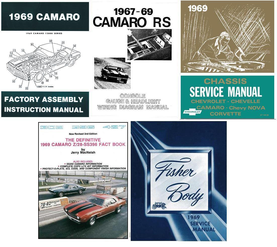 67 chevrolet nova wiring diagram 1969 camaro restoration book set service body chassis wiring  1969 camaro restoration book set