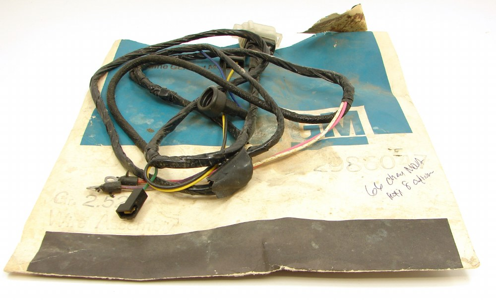 1966 chevy ii nova nos engine compartment wiring harness gm  1966 chevrolet nova chevy ii dash