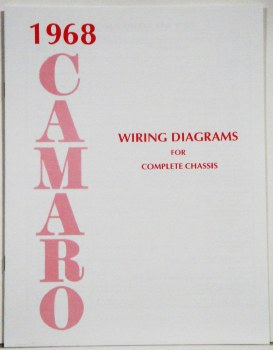 1968 Camaro Factory Wiring Diagram Manual Oe Quality Usa 1967 1968 1969 Camaro Parts Nos Rare Reproduction Camaro Parts For Your Restoration