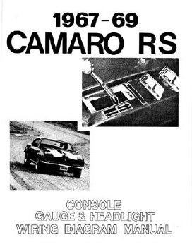 67 68 69 Camaro Rs Headlight Console Gauges Wiring Diagram Manual 1967 1968 1969 Camaro Parts Nos Rare Reproduction Camaro Parts For Your Restoration