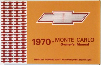 Monte Carlo Owners Manuals