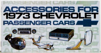 1973 Full Size Chevrolet Custom Illustrated Accessories Pamphlet