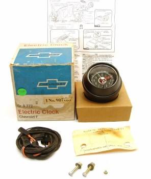 1967 Camaro & Firebird NOS Console Mounted Clock Kit Assembly  GM Part#