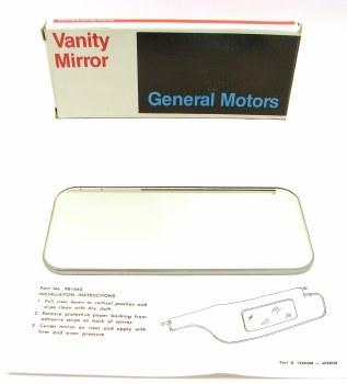 65 66 67 68 69 70 71 72 73 74 Camaro Chevelle Nova Full Size Chevrolet NOS Vanity Sunvisor Mirror Genuine GM