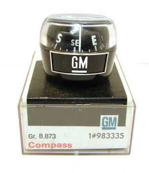 65 66 67 68 69 70 71 72 73 74 Camaro Chevelle Nova Full Size Chevrolet NOS Original GM Compass  GM# 983335