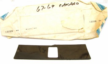 1967 1968 1969 Camaro NOS Console Shifter Plate Plastic Slider With Manual Transmission GM# 3921896
