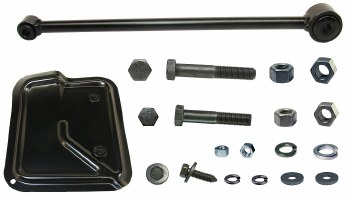 1967 Camaro Round Traction Bar Radius Rod Assembly