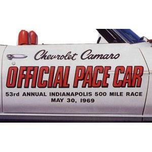 1969 Camaro Indy 500 Offical Pace Car Door Decals  Pair