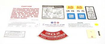 1969 Camaro Decal kits