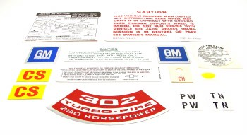 1968 Camaro Coupe Decal Kit Z-28 302-290 HP