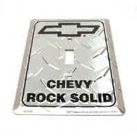 "1962-81 Camaro Chevelle Nova  Chevy Wall Switch Plate ""Chevy Rock Solid"""