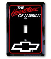 "1962-81 Camaro & Chevelle Chevy Wall Switch Plate ""The Heartbeat of America """