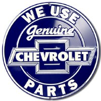 "1962-81 Camaro Chevelle Nova  Wall Sign  ""We Use Genuine Chevrolet Parts"""