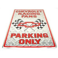 """1962-81 Camaro Chevelle Nova  Wall Sign  """"Chevrolet Racing Fans Parking Only"""""""
