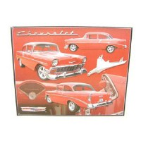 1956 Chevrolet 1956 Chevy Metal Wall Sign
