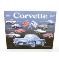 1953-1967 Corvette 1953-1967 Corvette Metal Sign