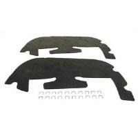 67 68  Camaro & Firebird Splash Shield Kit With Staples