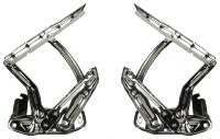1967 1968 1969  Camaro & Firebird Hood Hinges High Quality Show Chrome Pair