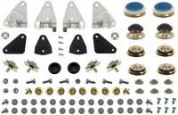 1969 Camaro & Firebird Door Glass & Quarter Window Track Monster Installation Hardware Kit  OE Quality!  Fits: Coupe & Convertible