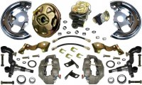 67 68 Camaro  Power Disc Brake Conversion Kit 4 Piston & Import 2 Piece Rotors