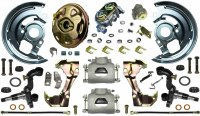 1969 Camaro & Firebird Power Disc Brake Conversion Kit With Single Piston Calipers & USA Made 2 Piece Rotors & Bearings High Quality OE Style Correct Kit