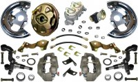 1967 1968 Camaro  Power Disc Brake Conversion Kit 4 Piston & 1 Piece Rotors