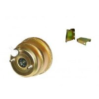 67 68 69  Camaro & Firebird Power Brake Booster 7 Inch Gold Iridite Plating