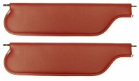 1967 1968 1969  Camaro & Firebird Convertible Sunvisors OE Quality! Pair Red