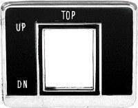 1969 Camaro Convertible Power Top Switch Bezel GM# 3937660