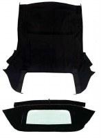 67 68 69 Camaro & Firebird Convertible Top Kit w/Zippered Window Black