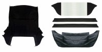 1967-1968-1969 Camaro & Firebird Convertible Top Kit Black Includes Well Line & Pads