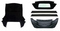 67 68 69  Camaro & Firebird Black Convertible Top Kit w/Zippered  Window OE