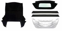 67 68 69  Camaro & Firebird Black Convertible Top Kit w/Zippered  Window OE