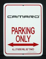 """1967-1981 Camaro Camaro Wall Sign  """"Camaro Parking Only"""""""