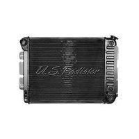 67 68 69 Camaro & Firebird SB 3 Core Radiator Assembly w/Auto Without AC