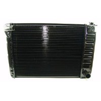 1967 1968 1969 Camaro & Firebird 4 Core Radiator Assembly BB With Curved Neck  396 402 427 454 With Manual Transmission