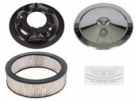 66 67 68 69 70 Camaro Chevelle Nova Air Cleaner Assembly w/Square Mesh OE Style