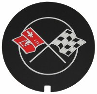 1969-79 Camaro Aluminum Valve Cover  Cross Flags Decal