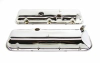 1967-74 Camaro Chevelle Nova BB Chrome Valve Covers w/PBSlant