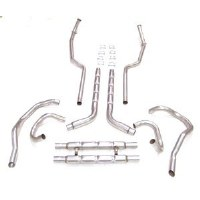 1969 Camaro Chambered Exhaust System SB 302 307 327 350 w/Exhaust Hanger Kit